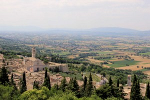 St. Chiara with the valley