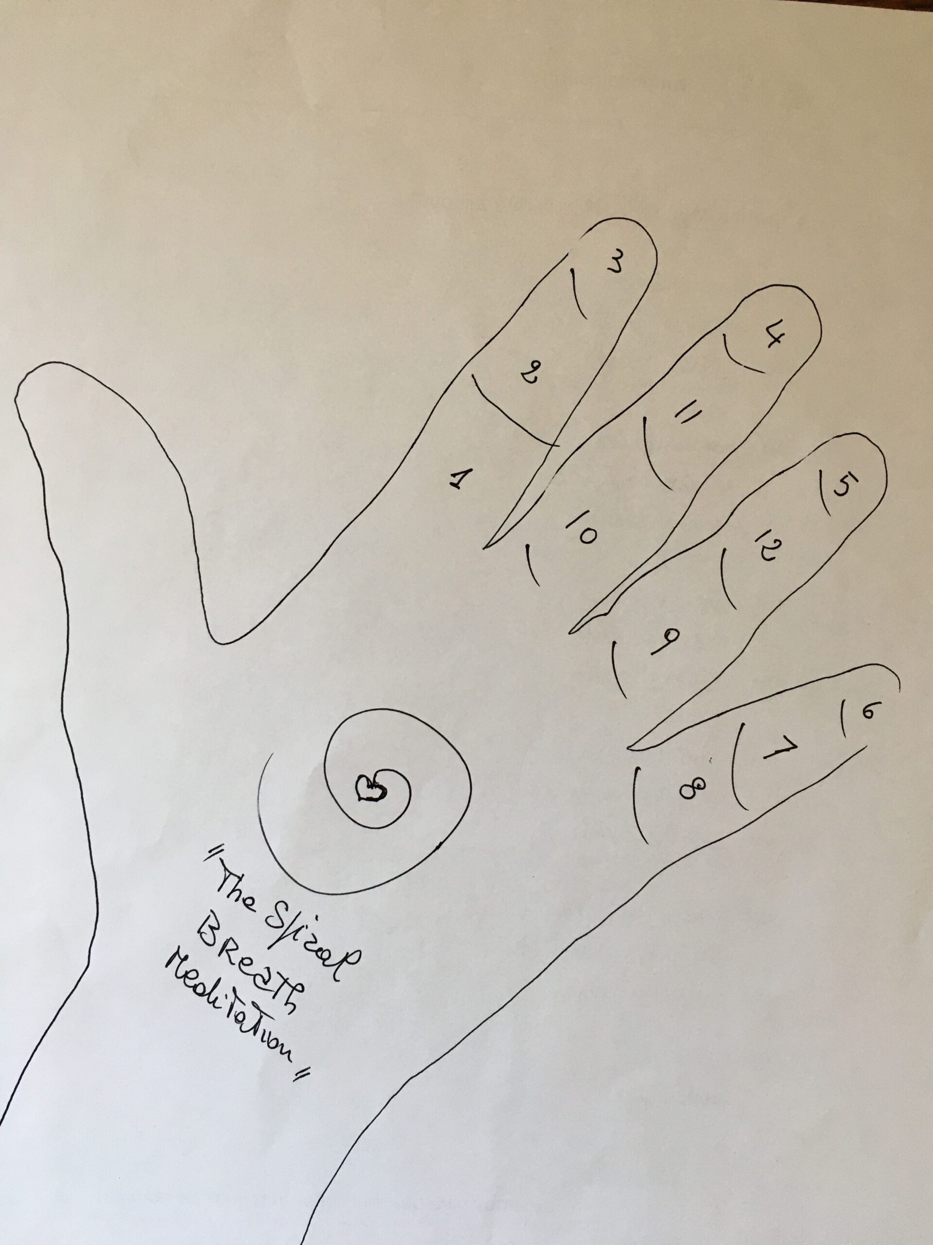 Finger/phalanges counting for focus