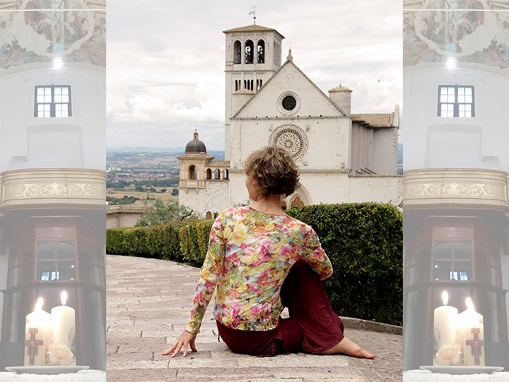 Viniyoga yoga retreat in Assisi Italy with Mirka Kraftsow